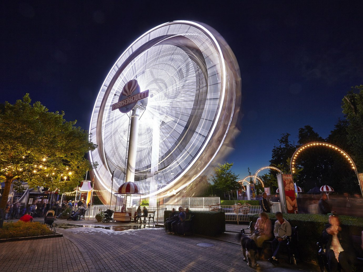 Adventure Copenhagen Denmark Luxury Travel Outdoor Activities Trip Ideas outdoor amusement park ferris wheel night landmark park device outdoor recreation recreation tourist attraction amusement ride fair world decorated