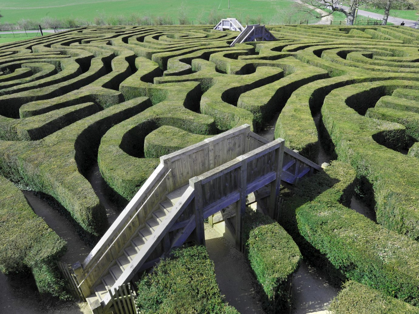 Trip Ideas grass outdoor ecosystem field Terrace landscape agriculture soil green plain aerial photography race track outdoor structure maze paddy field Garden day
