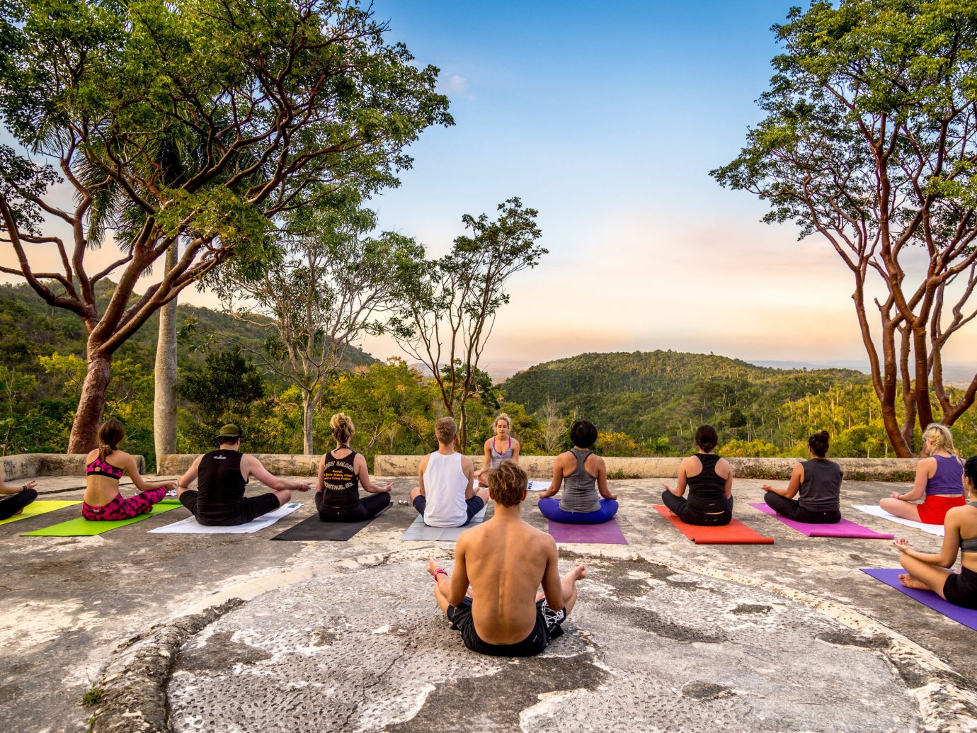 Health + Wellness Meditation Retreats Trip Ideas Yoga Retreats tree outdoor sky leisure physical fitness yoga