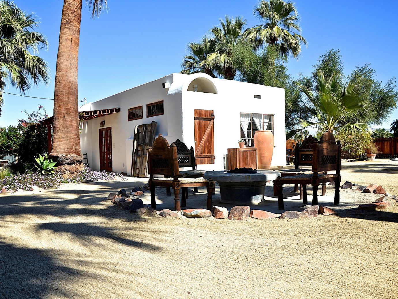 Exterior of Korakia Pensione, Palm Springs California