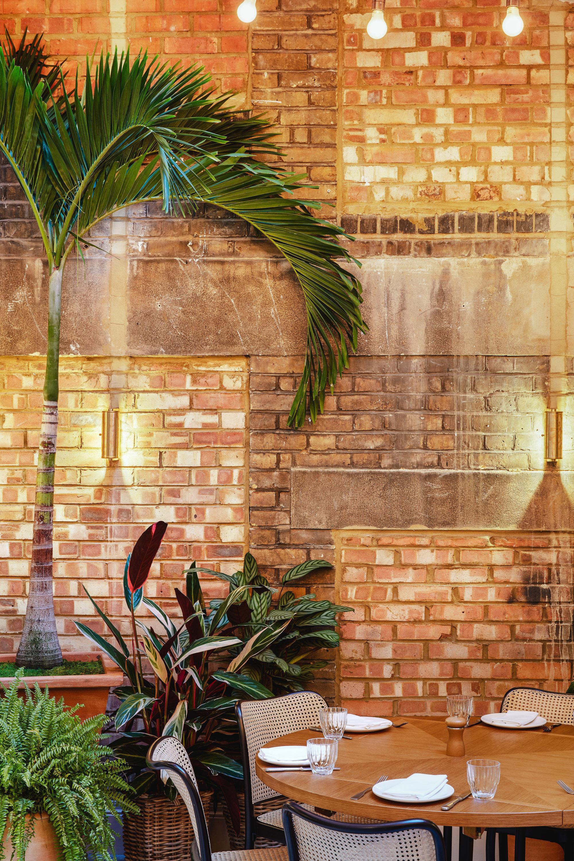 Food + Drink London wall brick flower home plant interior design window