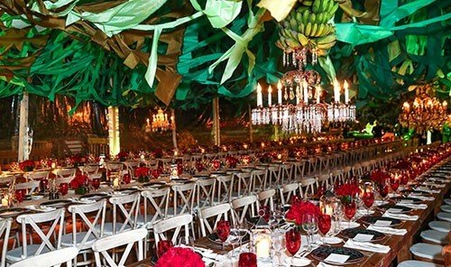 Trip Ideas outdoor function hall meal ceremony aisle banquet long lined set line dining room