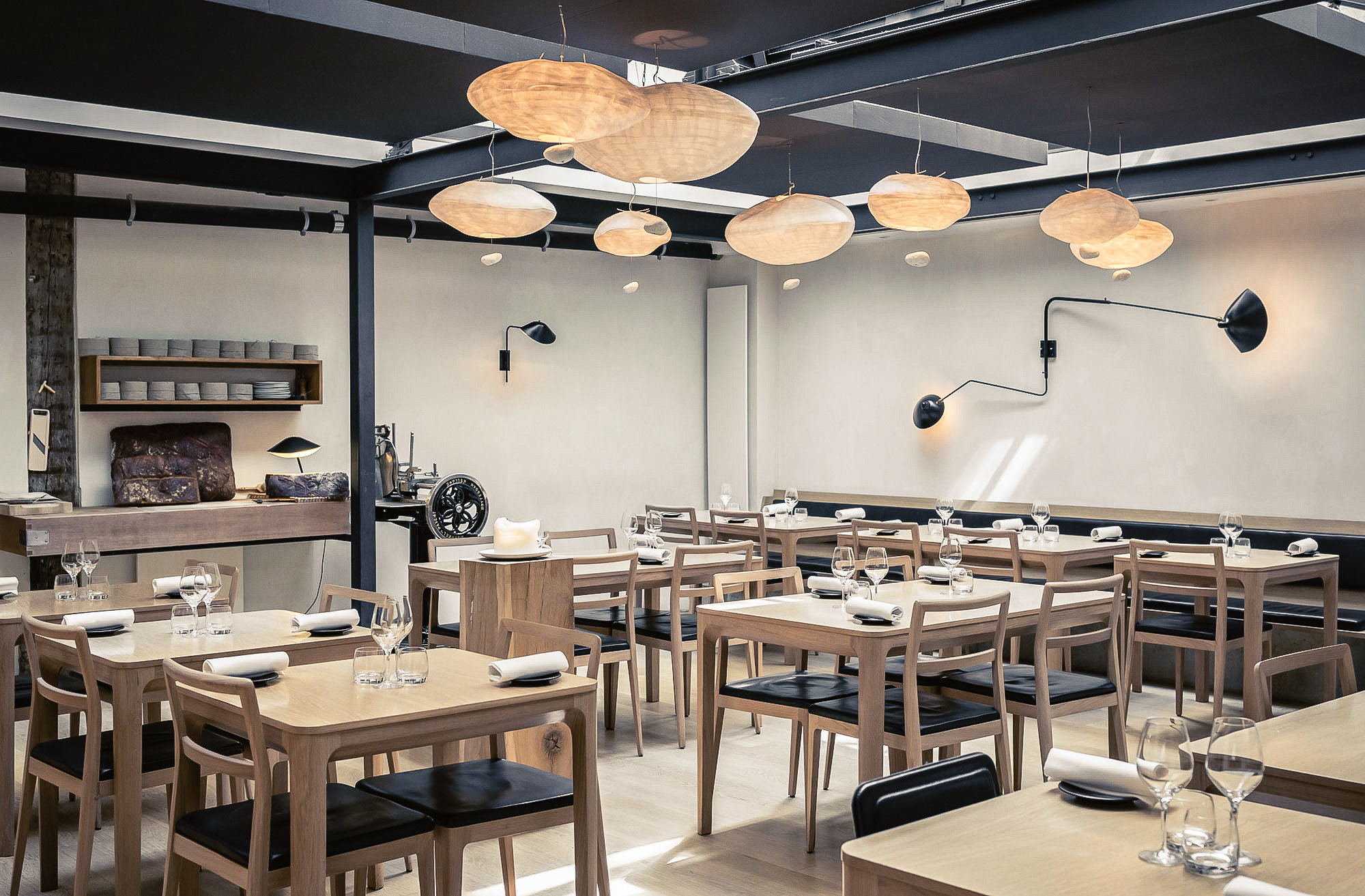 Food + Drink France Paris table indoor restaurant interior design dining room café ceiling furniture several
