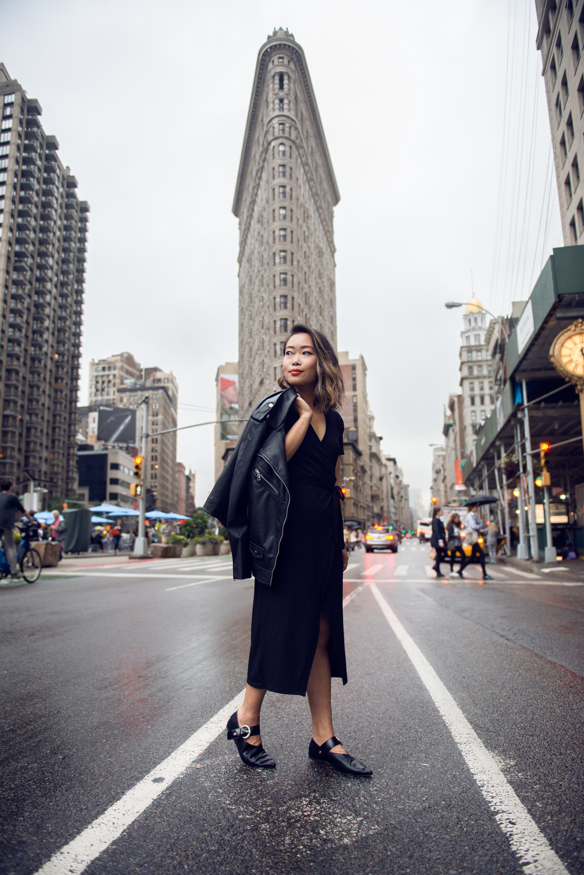 NYC Style + Design Travel Shop road urban area infrastructure City street dress snapshot outerwear fashion standing building girl pedestrian pattern Downtown jeans Winter plaid