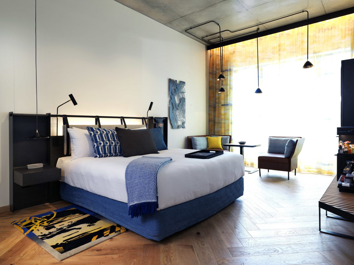 Hotels Romance indoor wall floor room property living room Living interior design Bedroom furniture home real estate bed Design loft bed frame condominium apartment