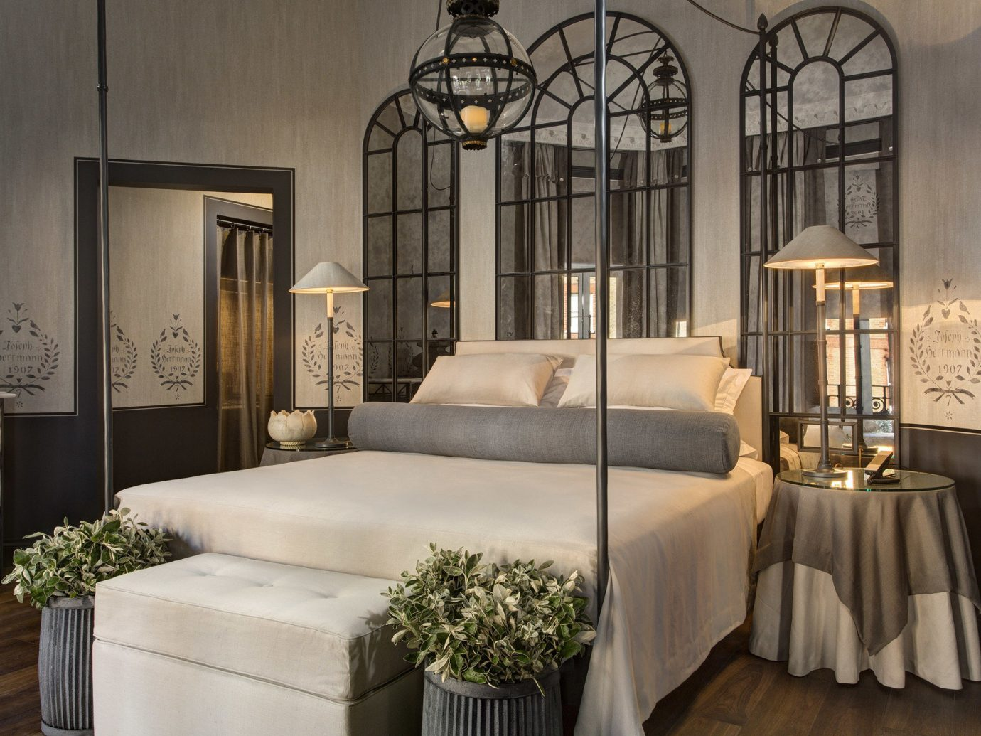 ambient lighting bed Bedroom Boutique Hotels decor Elegant extravagant Hotels interior Luxury regal sophisticated Style + Design stylish indoor wall Living room furniture interior design estate living room mansion dining room decorated