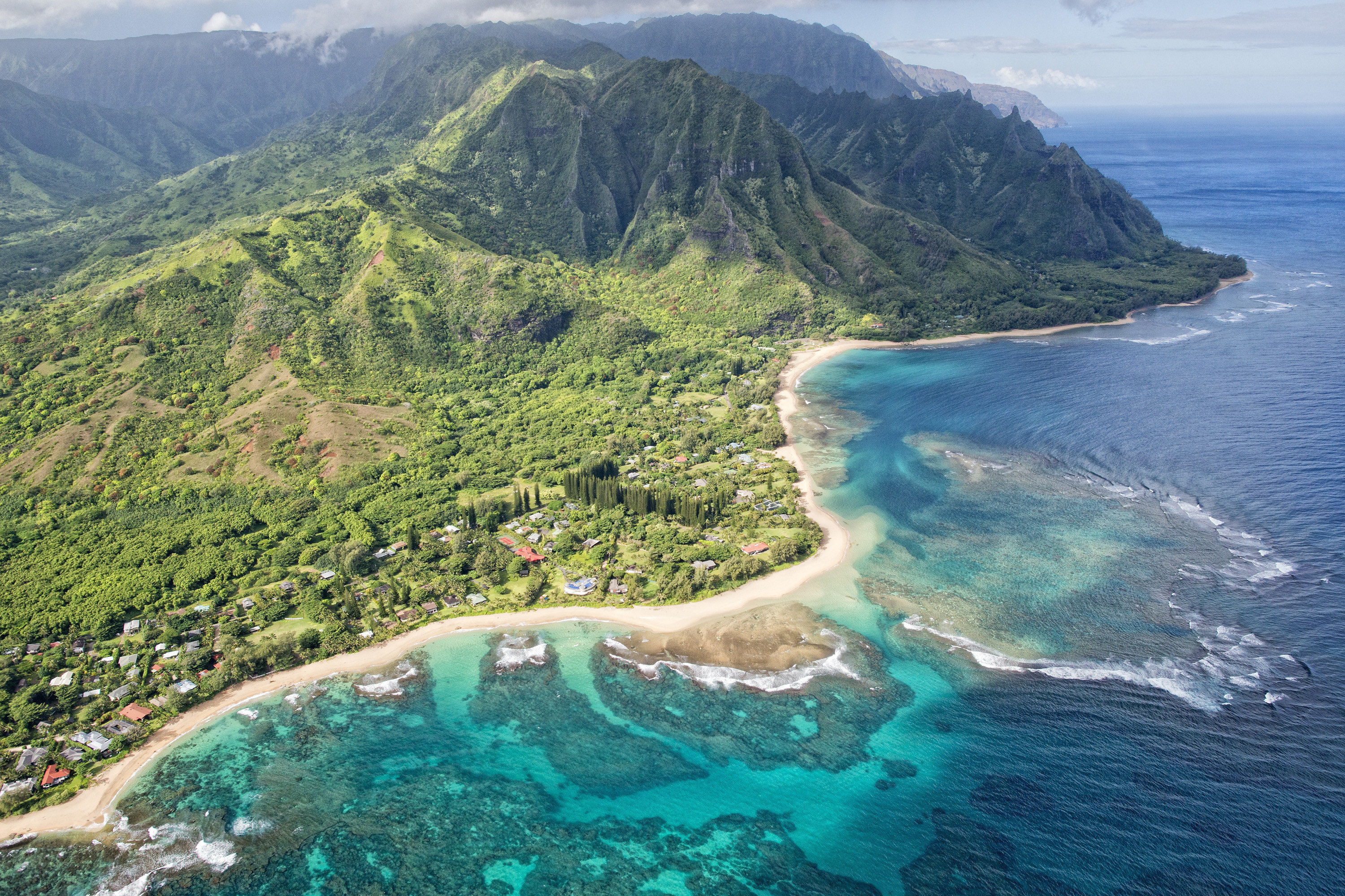 mountain water outdoor Nature coastal and oceanic landforms Coast aerial photography Sea headland promontory cape photography Island bay peninsula bird's eye view shore archipelago inlet islet Ocean mount scenery tropics water resources sky Lagoon tourism caribbean cove