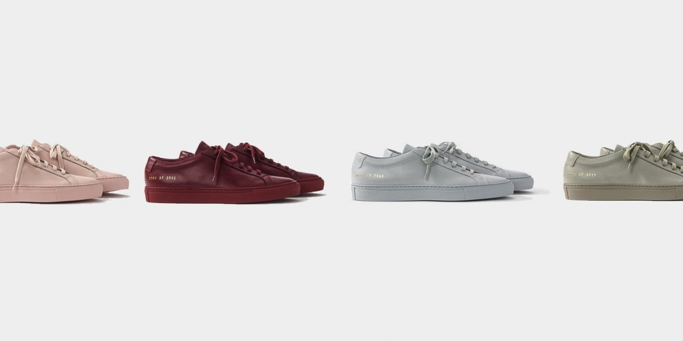 official photos fb45d 655af Style + Design cat footwear shoe sneakers indoor product leather outdoor  shoe. 1 Adidas Yeezy Boost 350  2 Common Projects Achilles ...
