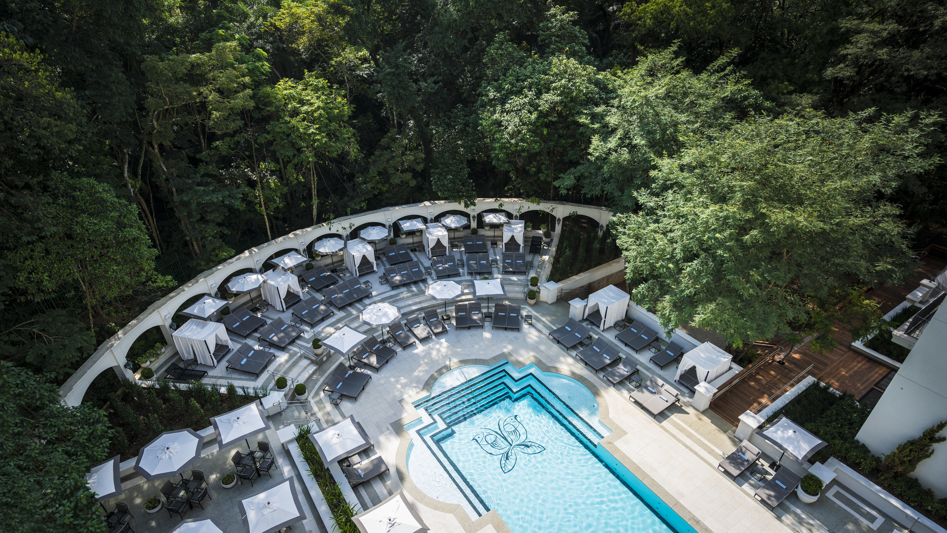 Architecture Fall Travel Hotels Luxury Travel News Trip Ideas tree outdoor swimming pool leisure water resort town estate Resort recreation Forest wood wooded