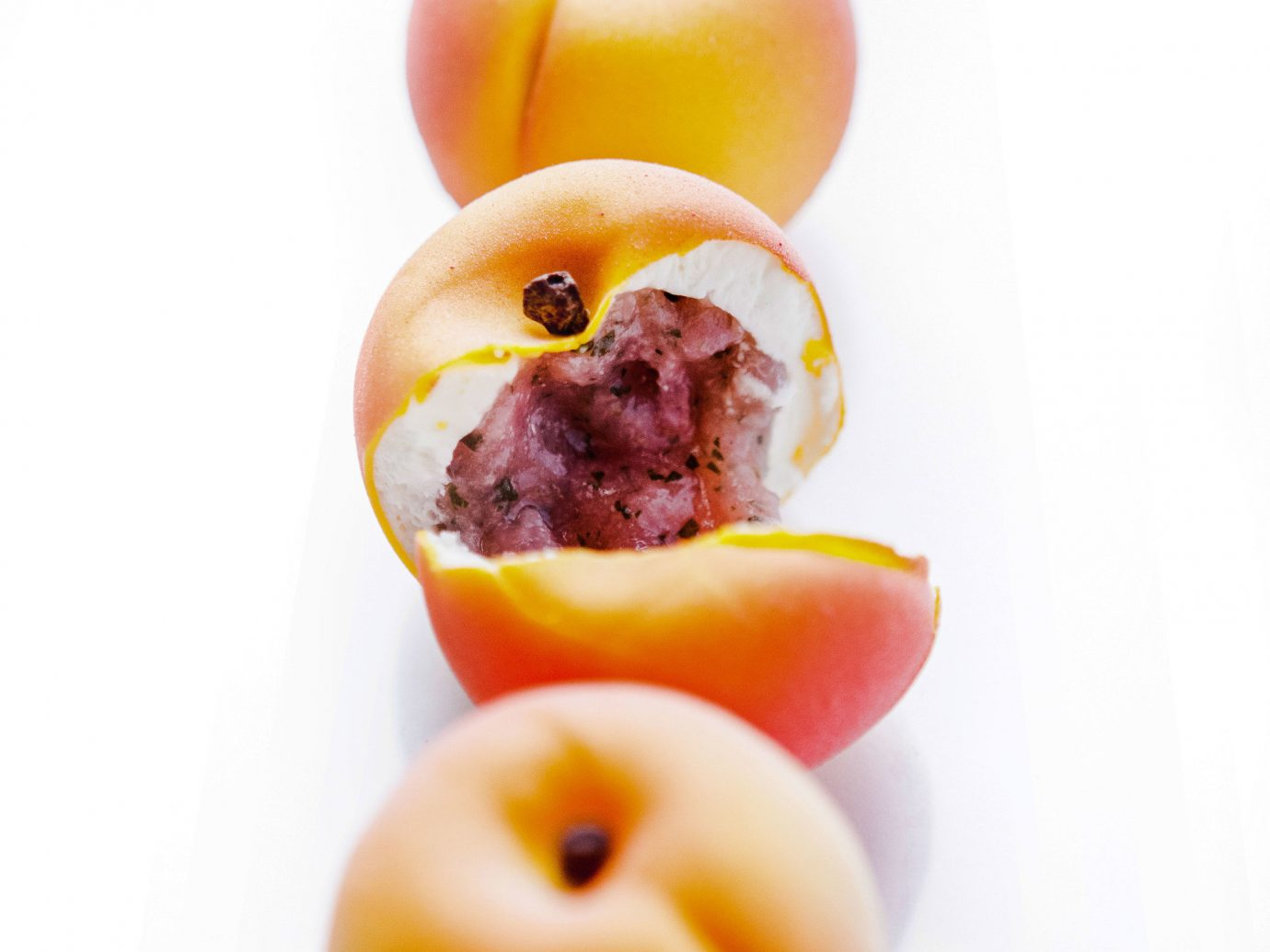 europe Trip Ideas fruit food produce peach sliced donut apricot
