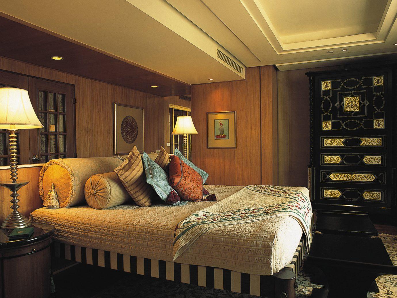 Hotels Luxury Travel indoor sofa room ceiling property Living living room estate home interior design Bedroom Suite furniture cottage mansion Design decorated