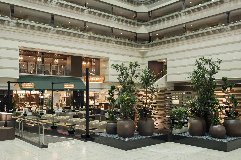Entertainment Hotels Romance Shop Lobby interior design condominium plaza estate Design window covering furniture several