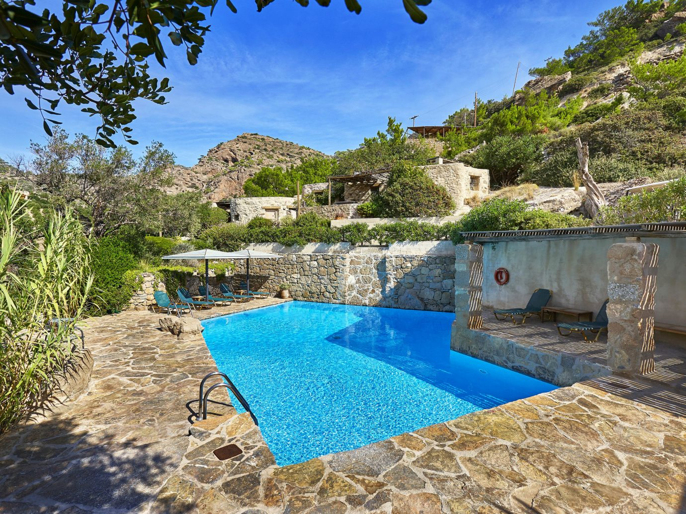 Trip Ideas outdoor swimming pool vacation estate Nature bay Villa Sea blue Resort stone
