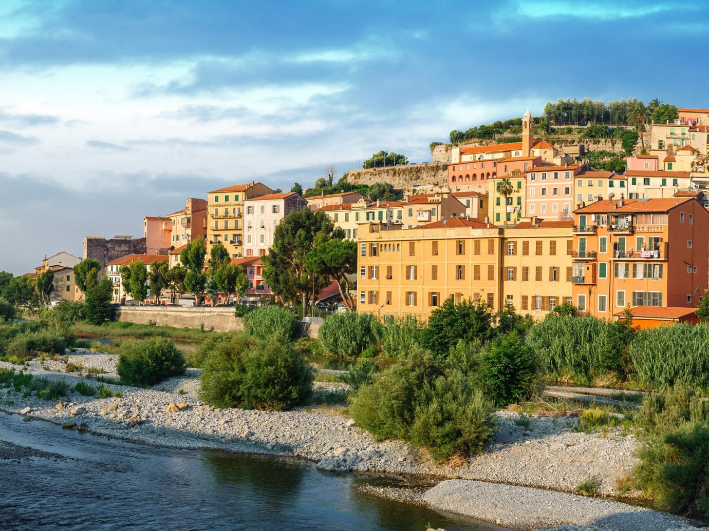 Italy Trip Ideas City sky Town tourism real estate Village panorama tree Coast building cityscape River facade