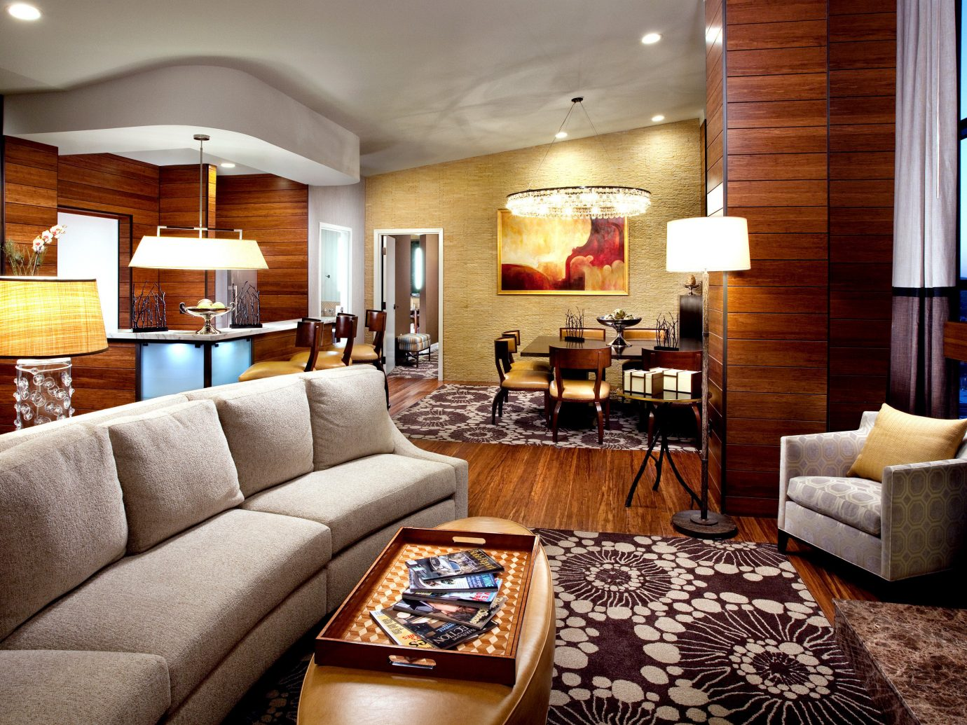 Boutique Hotels Hip Lounge Modern Trip Ideas indoor sofa Living room floor ceiling property living room estate Suite home interior design furniture real estate cottage condominium decorated area leather wood