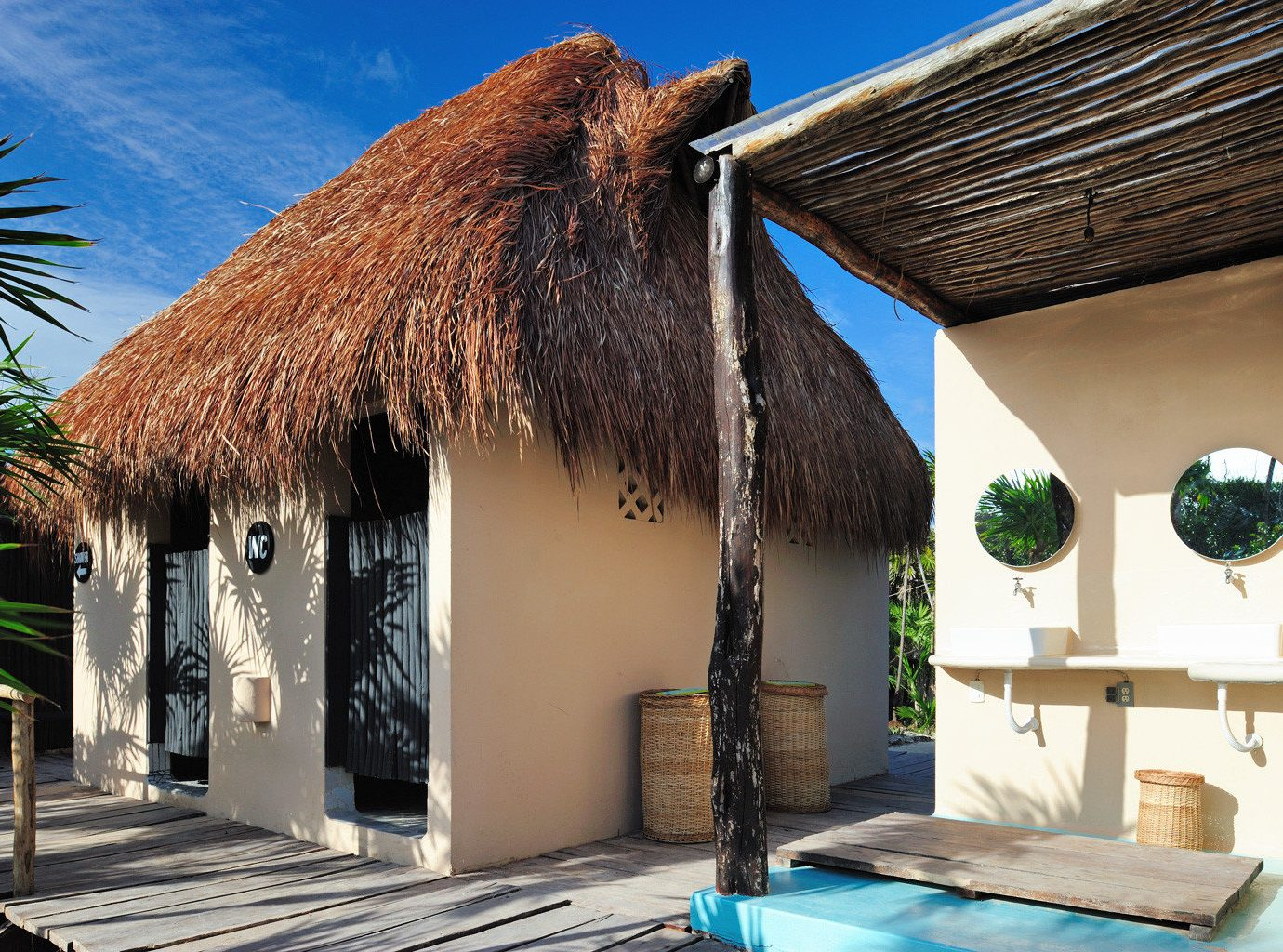 Eco Hotels Island Solo Travel Villa house property vacation Architecture estate home hut Resort thatching cottage hacienda furniture