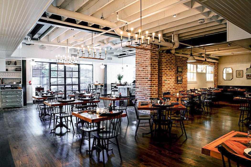Food + Drink Trip Ideas table floor indoor ceiling chair room restaurant Dining scene furniture interior design cafeteria café area several