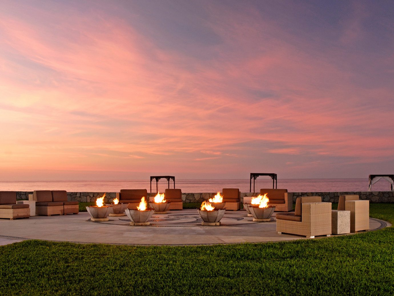 Outdoor firepits at Pueblo Bonito Pacifica Golf & Spa Resort