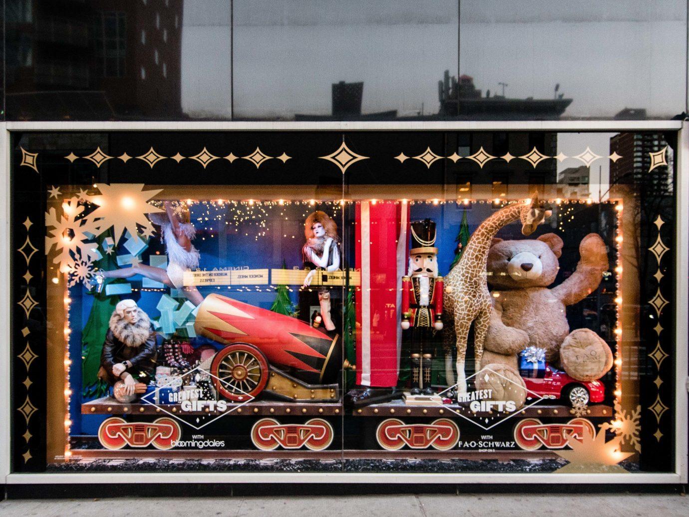 Offbeat Winter display window art window