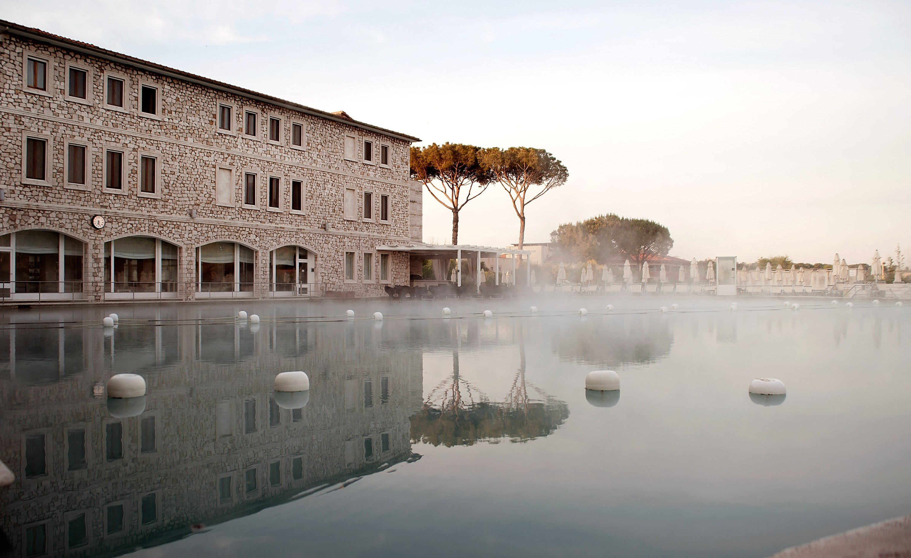 Hotels sky outdoor reflection water morning Winter waterway palace