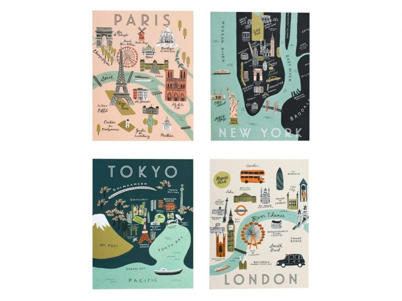 Buy Rifle Paper Co. City Map Card Set on Amazon