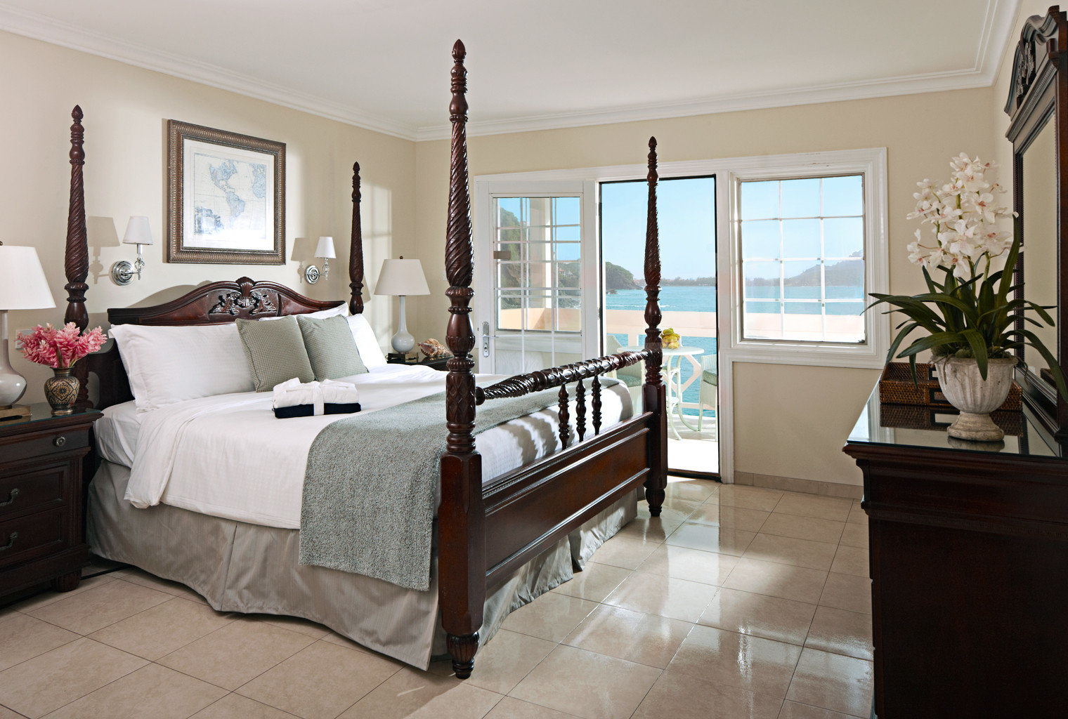 Beach Beachfront Bedroom Classic Hotels Island Scenic views floor indoor wall bed room property window living room home hardwood real estate estate interior design cottage furniture