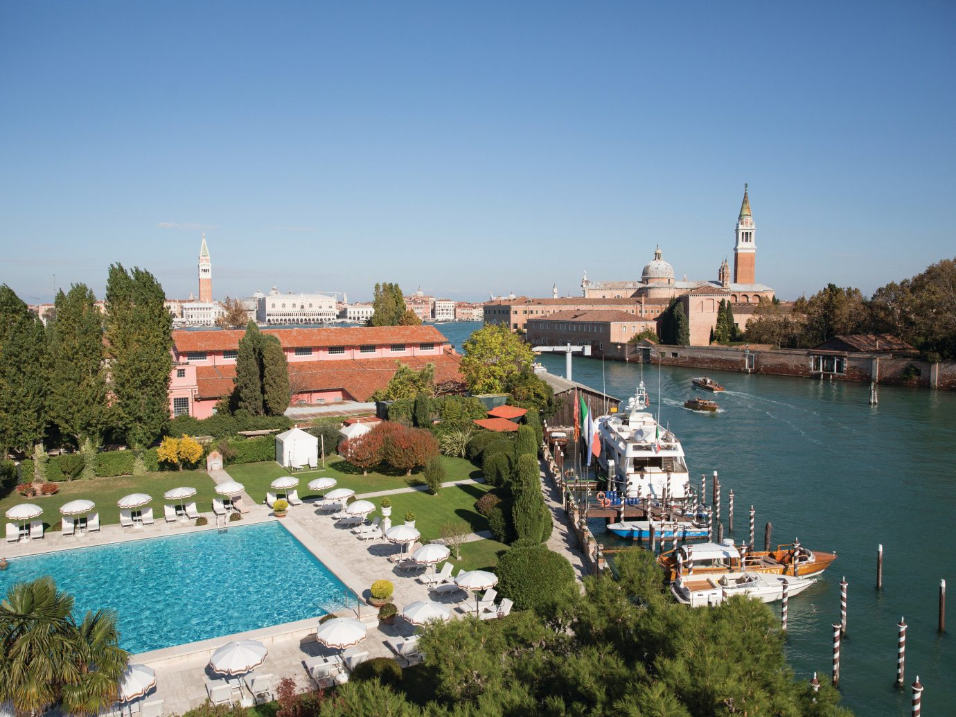 Hotels Italy Luxury Travel Venice City water sky waterway Town tree tourist attraction plant tourism River leisure Lake estate plaza