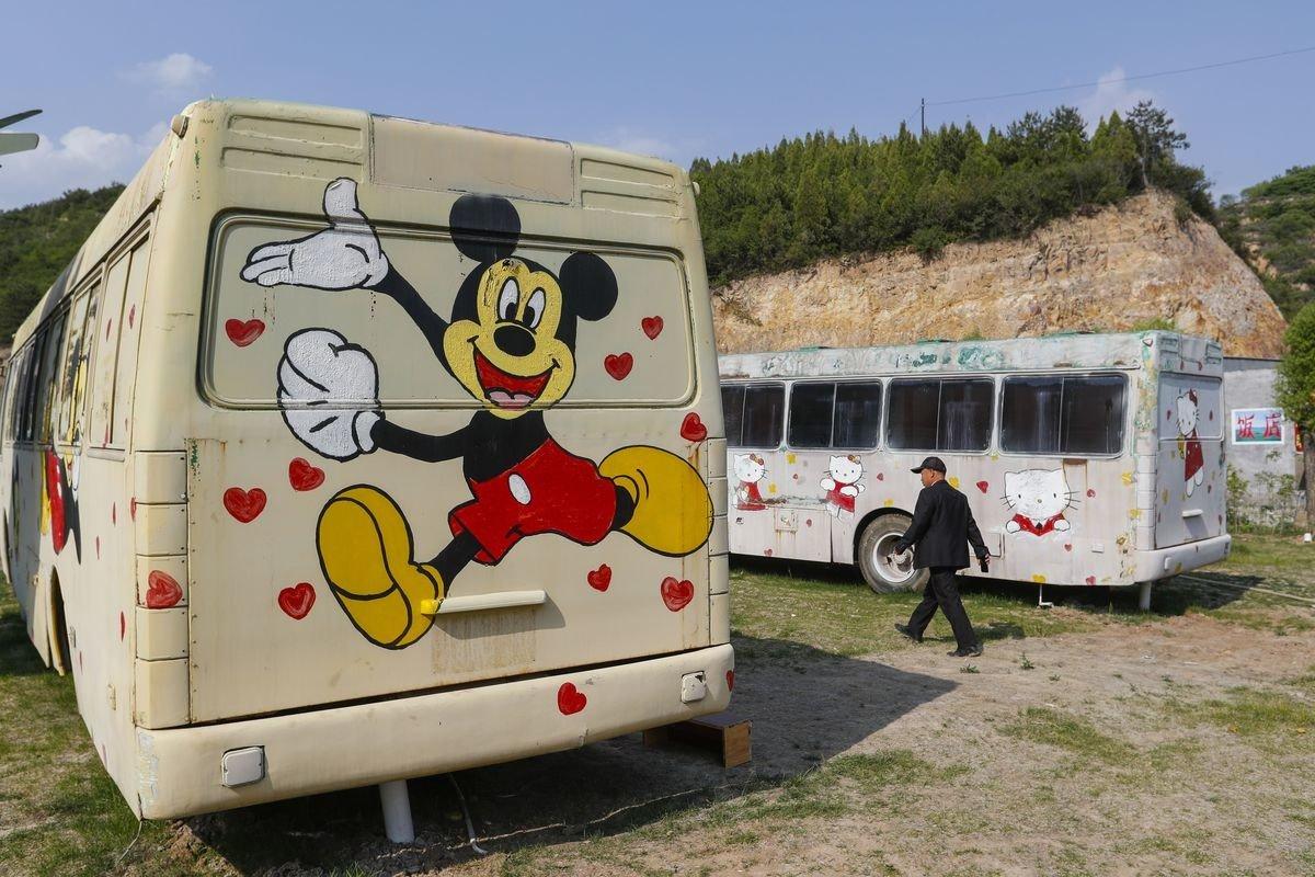 Offbeat grass sky outdoor trailer vehicle camper art recreational vehicle transport van