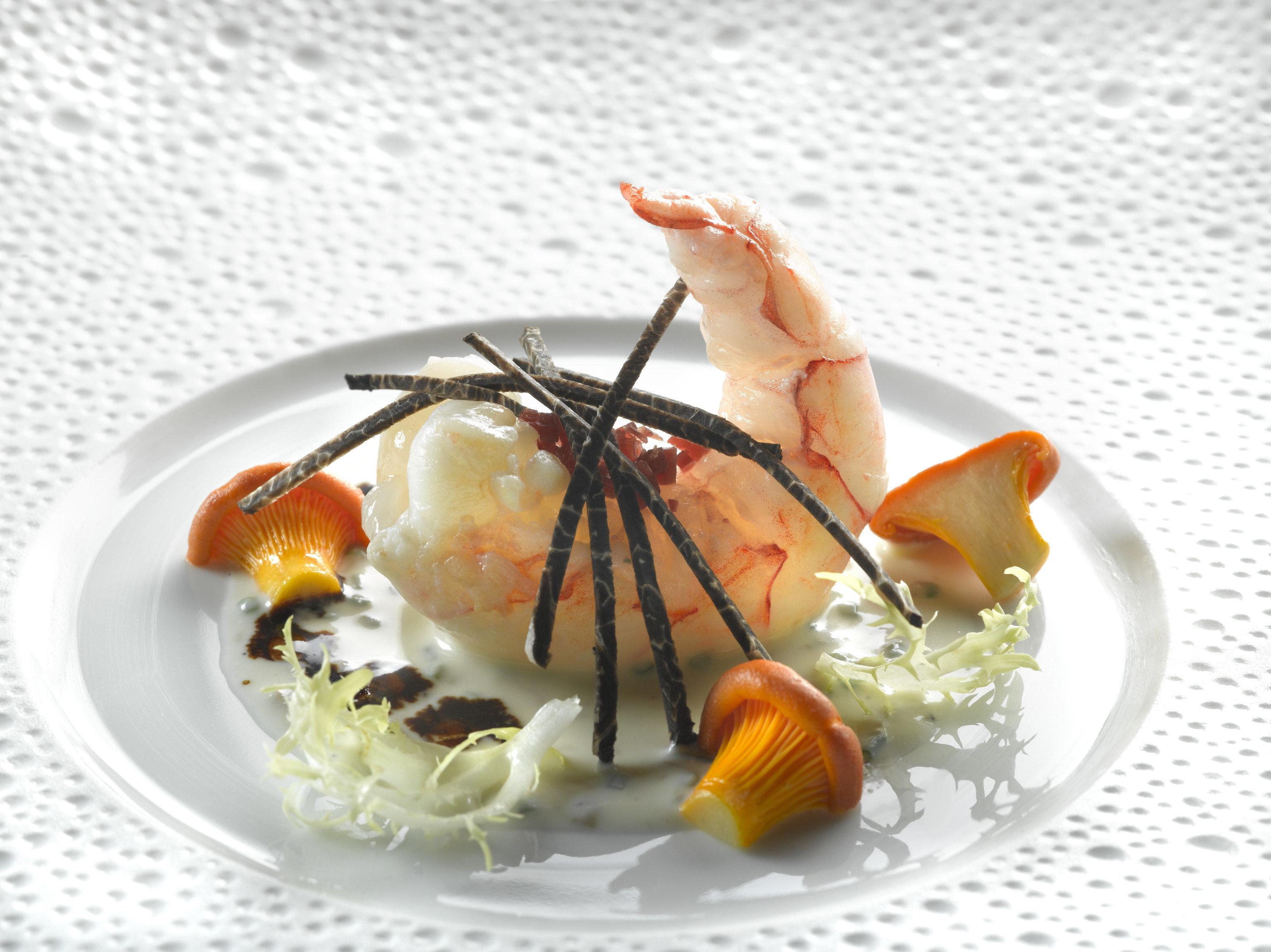 Food + Drink plate food dish piece dessert slice cuisine white Seafood garnish fork recipe meal eaten