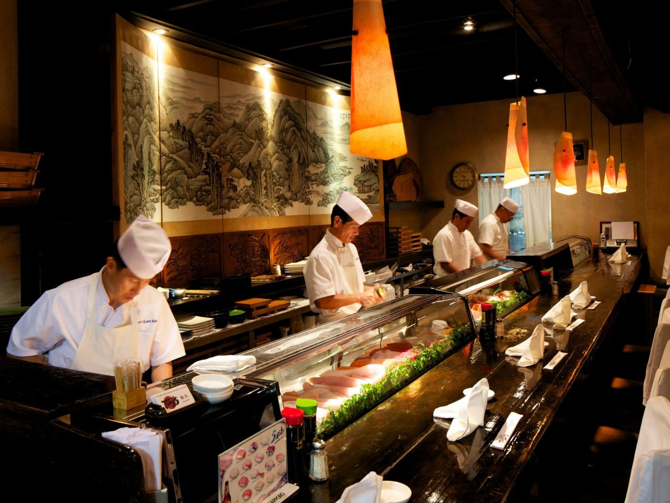 Travel Tips indoor person food cuisine dish preparing restaurant cook asian food buffet counter professional