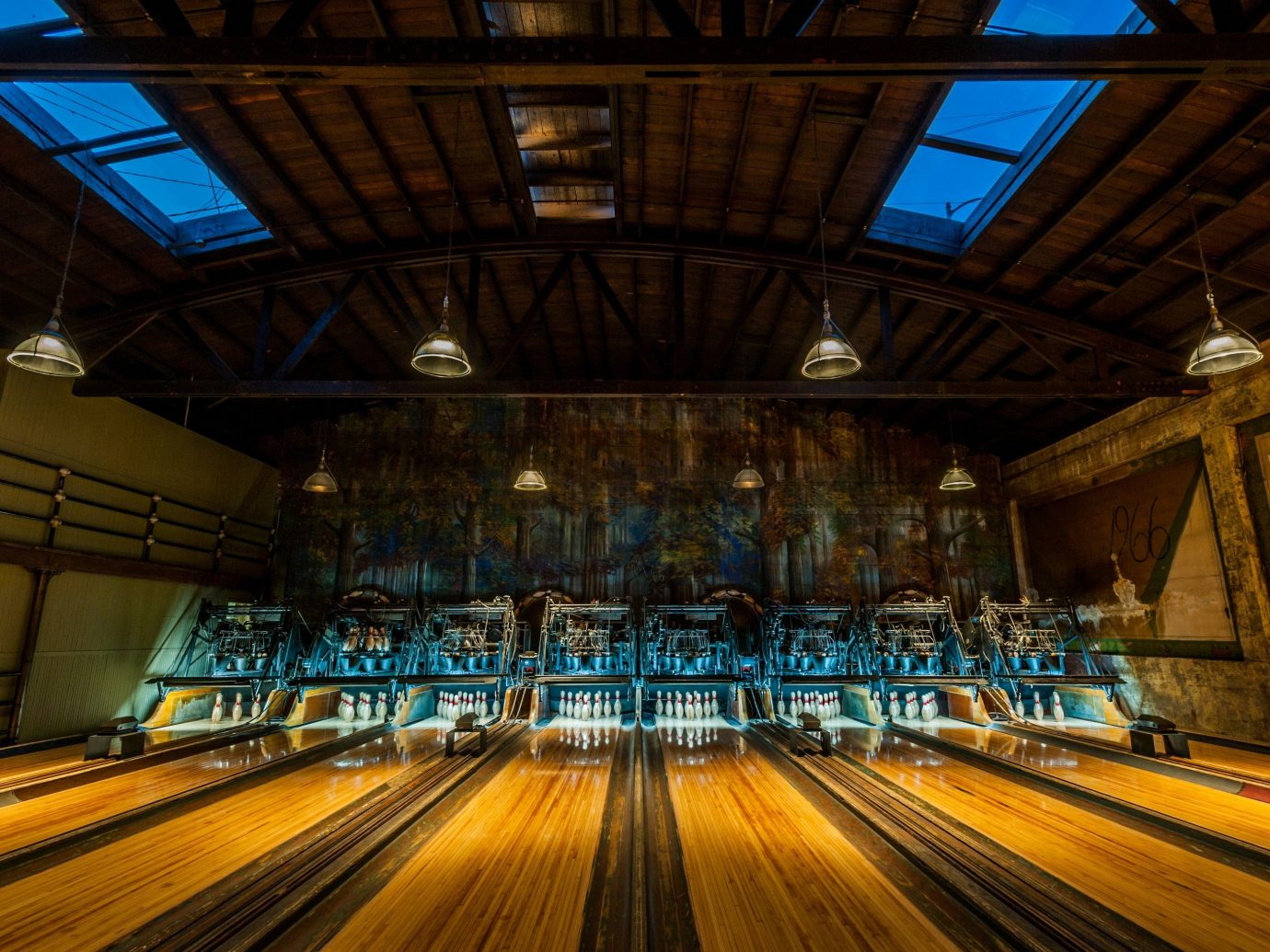 Summer Series bowling ten pin bowling ball game sports indoor track ceiling team sport platform station individual sports subway