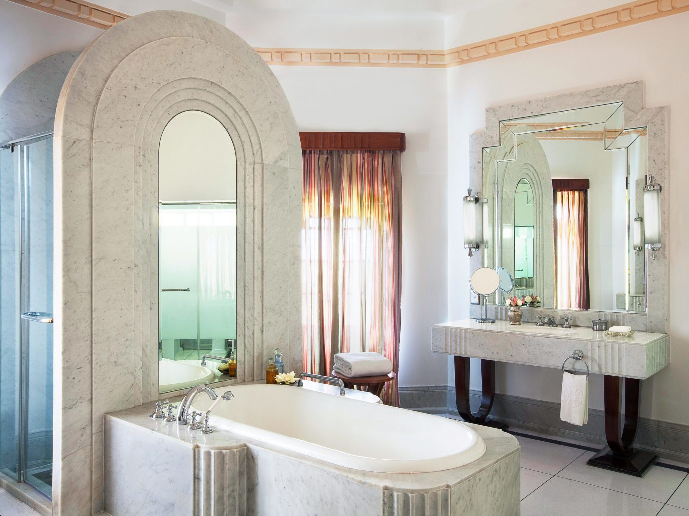 Bath Elegant Hotels Living Luxury Resort indoor wall window bathroom room property estate home interior design Suite floor real estate mansion tub bathtub