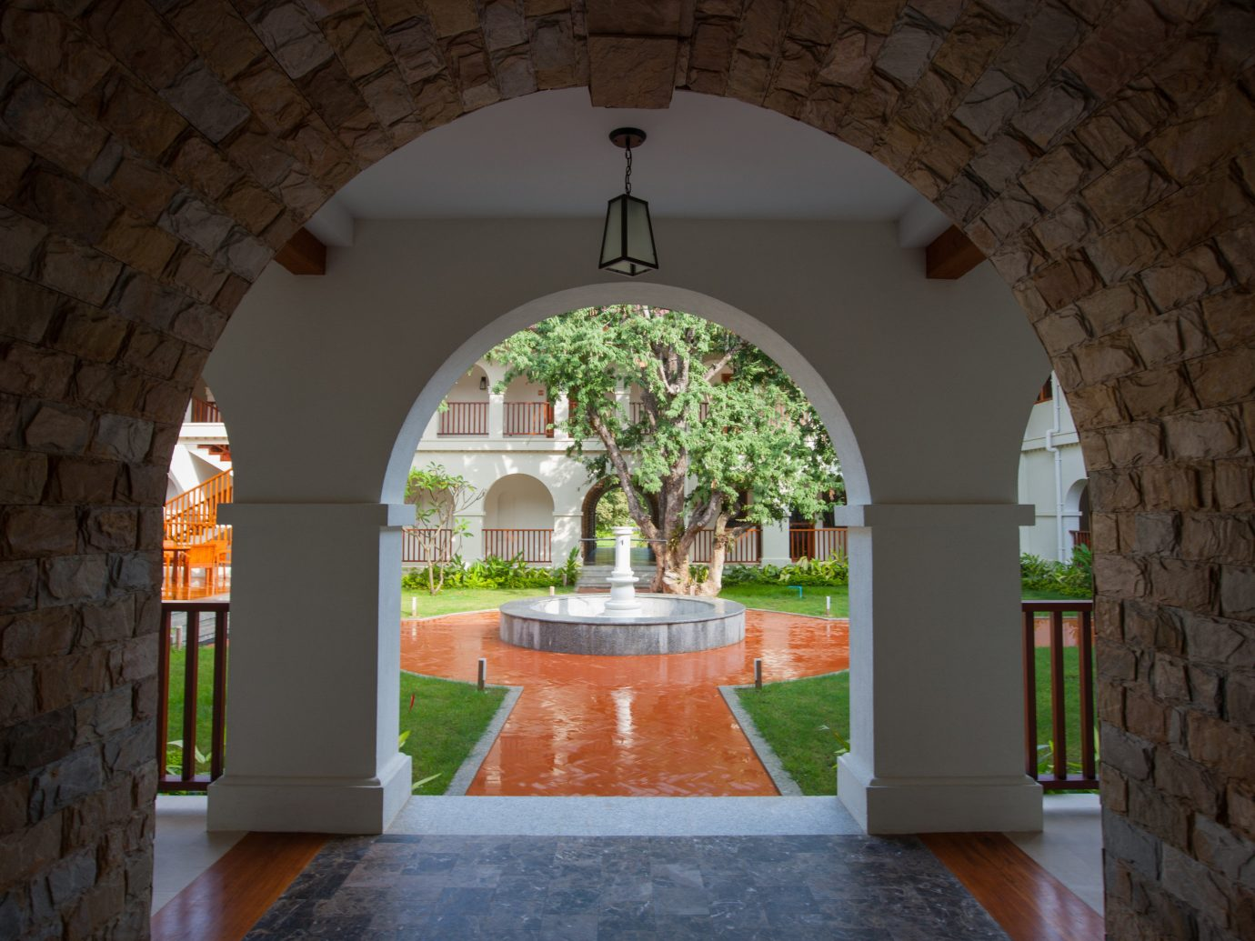 Hotels wall building arch estate house Architecture hacienda home stone chapel Courtyard interior design cottage mansion monastery Villa place of worship
