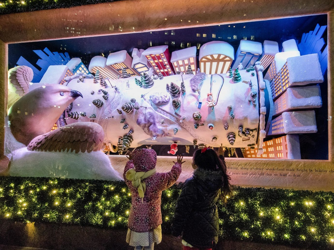 Offbeat Winter art display window fun world decorated recreation graphics tourism