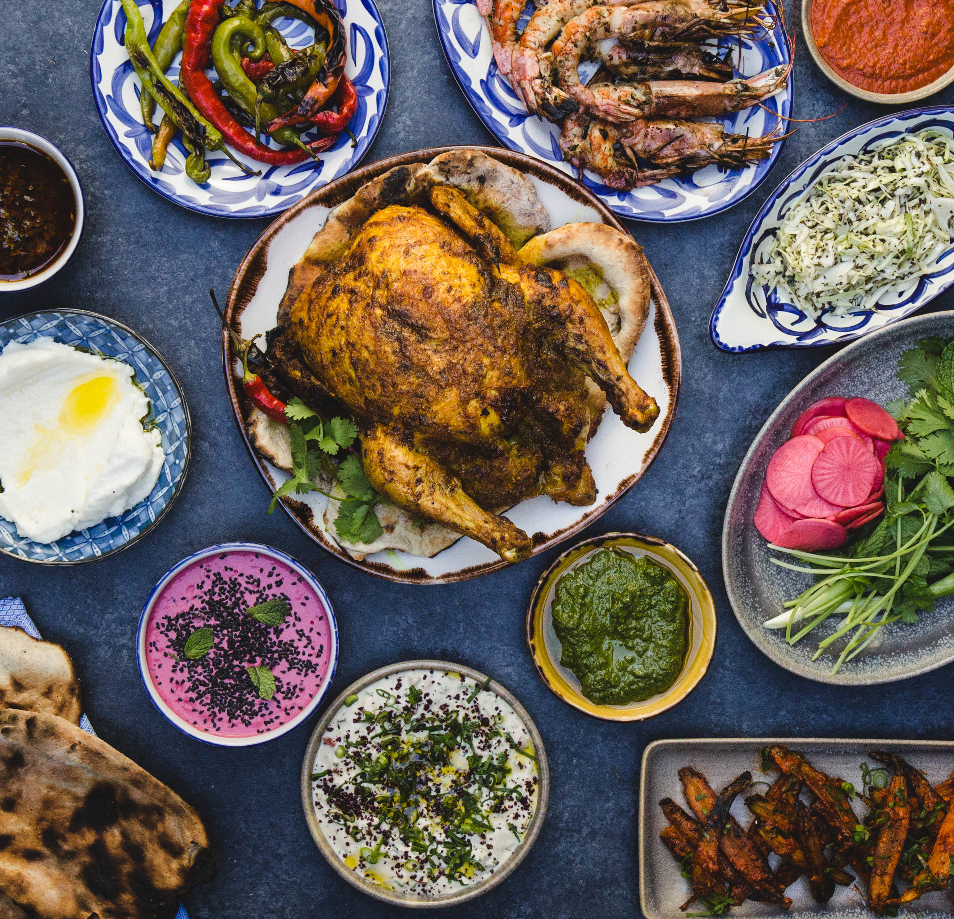 Food + Drink food plate dish meal different vegetarian food cuisine lunch fried food thanksgiving dinner many Seafood meze recipe asian food middle eastern food items vegetable dinner set various assortment arranged meat variety several