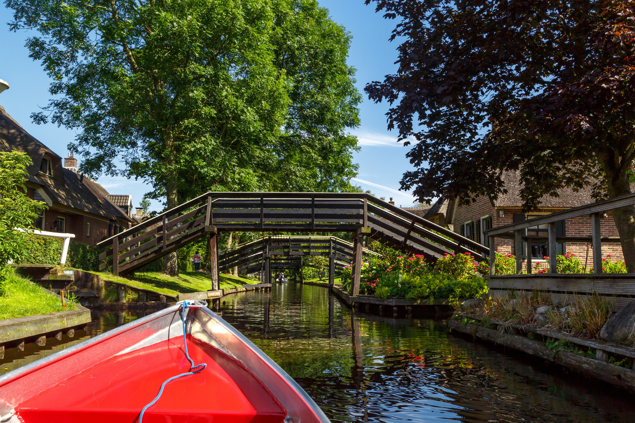 Trip Ideas tree outdoor sky water Canal River waterway house red estate flower Garden traveling Playground