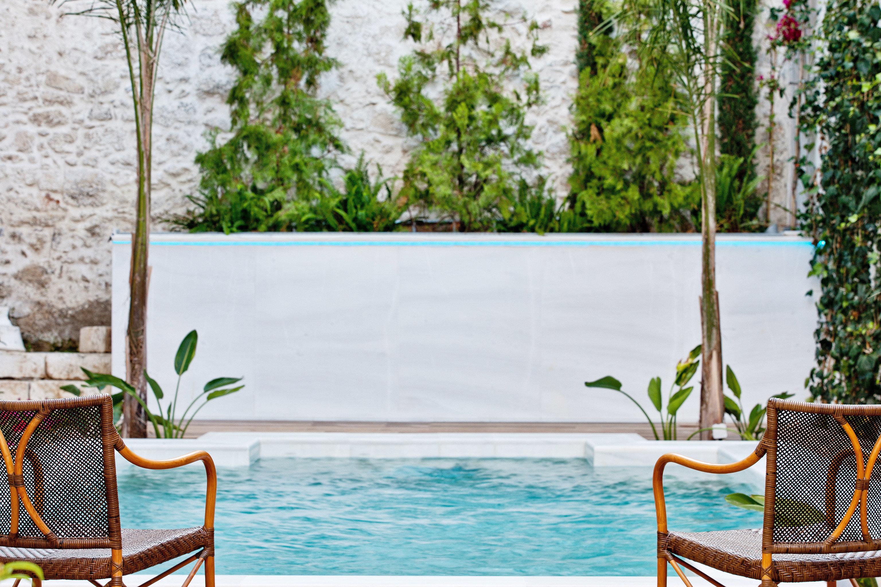 Lounge Luxury Modern Pool Trip Ideas tree outdoor chair swimming pool backyard home estate interior design flower