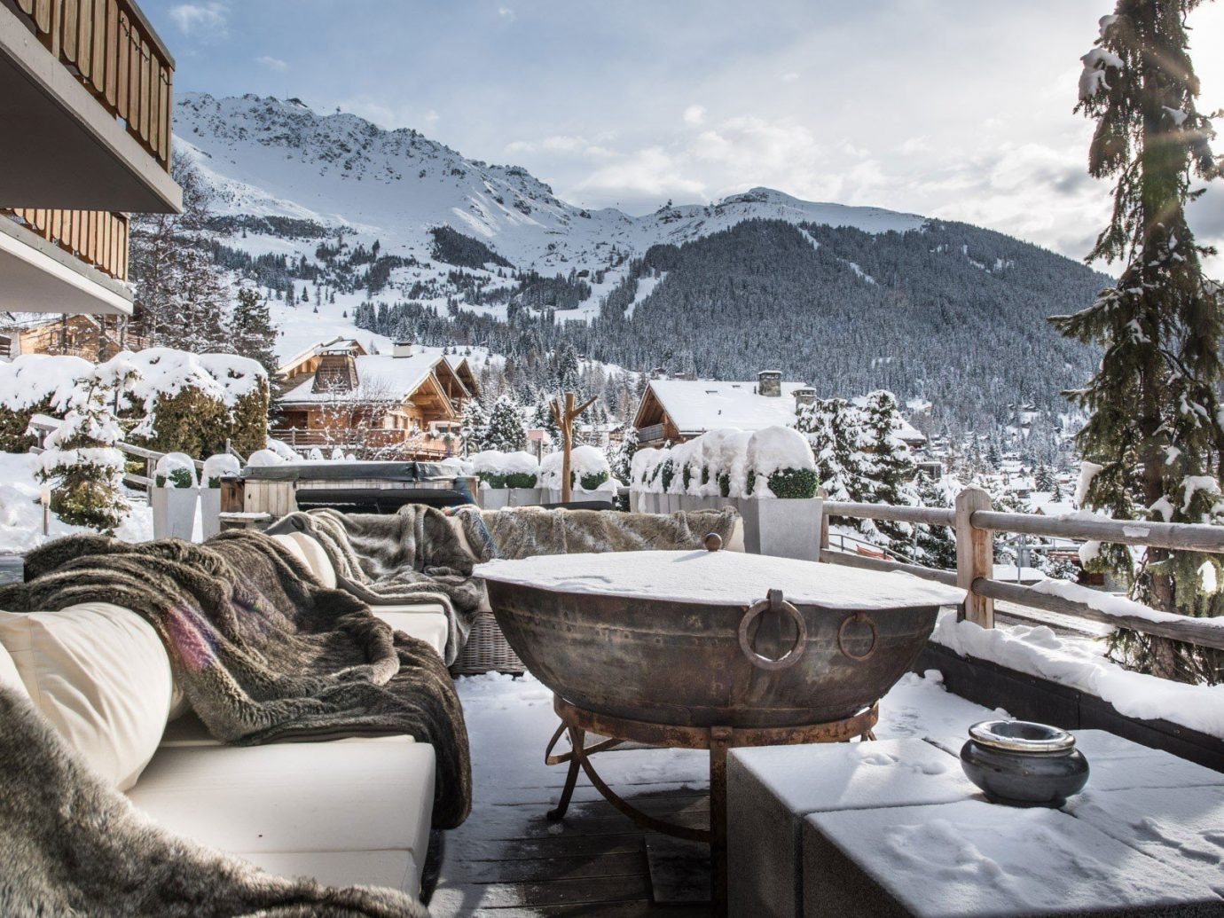 Hotels Luxury Travel Mountains + Skiing Trip Ideas sky outdoor snow Winter weather Resort season estate