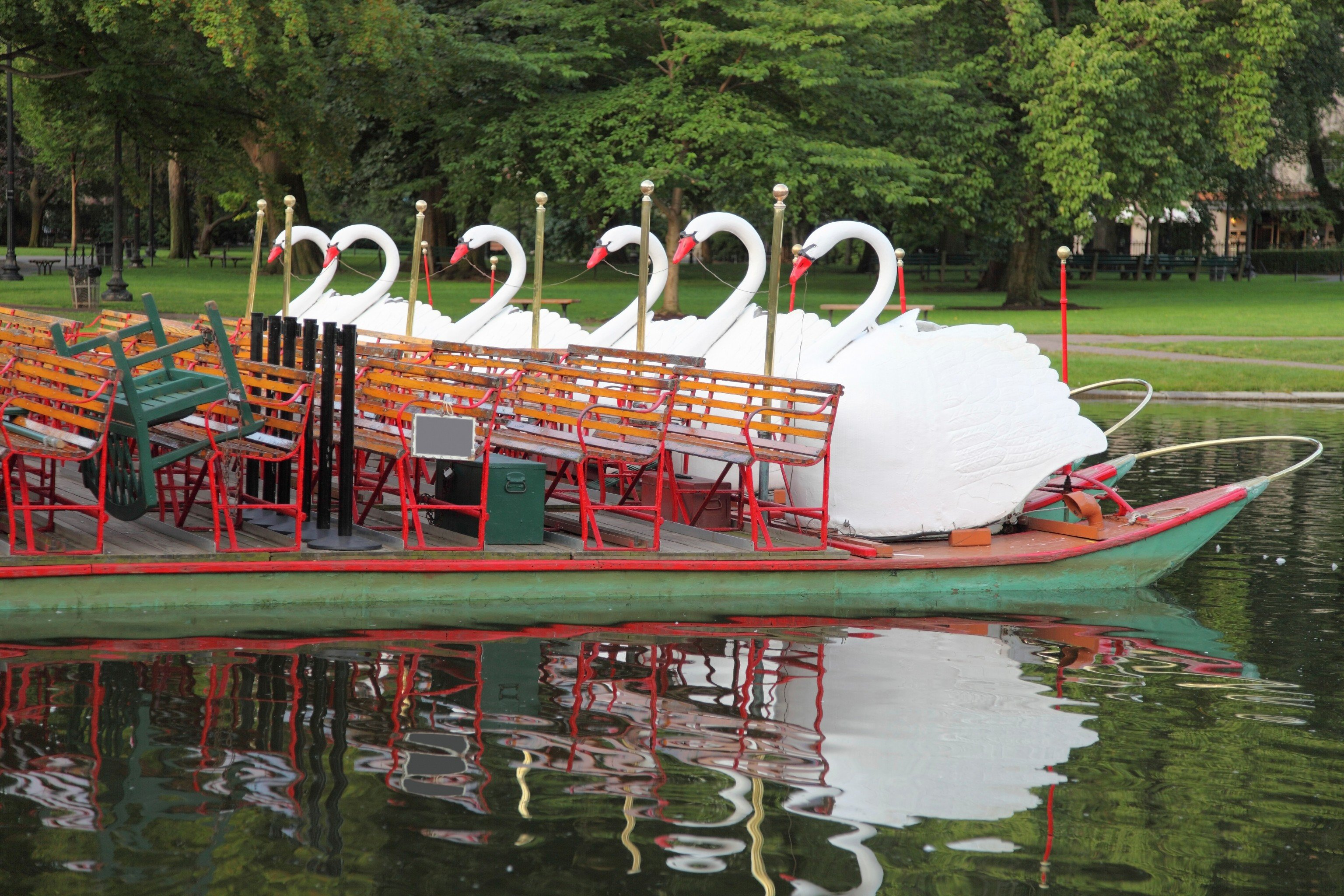 Budget tree water outdoor Boat River amusement park park boating Lake Playground waterway amusement ride vehicle outdoor play equipment