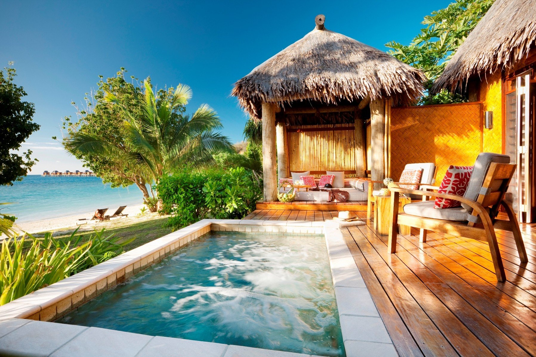 All-Inclusive Resorts Boutique Hotels Hotels Romance tree outdoor Resort property building swimming pool estate leisure real estate Villa vacation home cottage palm tree tropics arecales Pool outdoor structure house backyard hacienda caribbean resort town amenity furniture