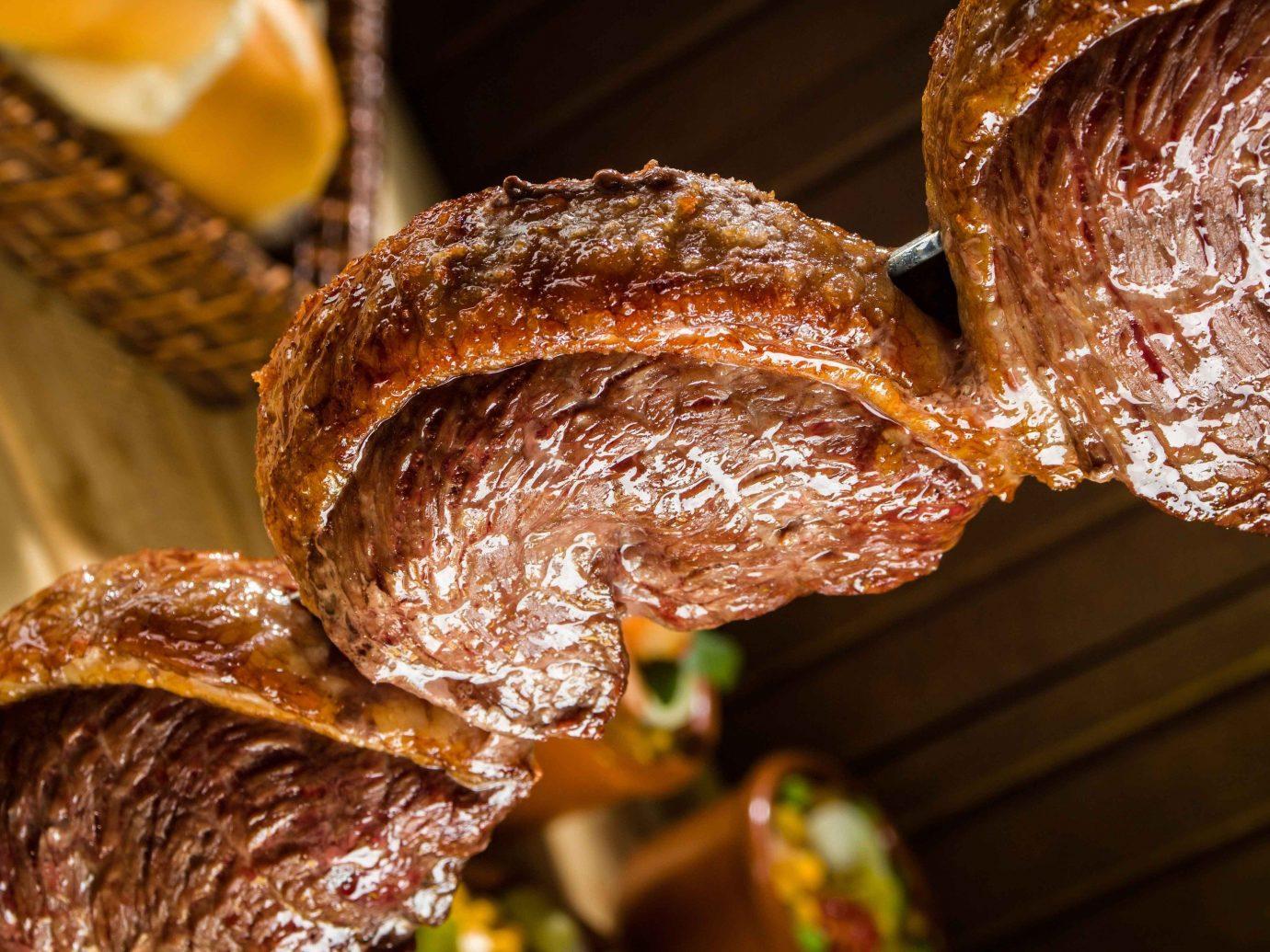 Food + Drink food meat organ medicinal mushroom produce meal baked close barbecue