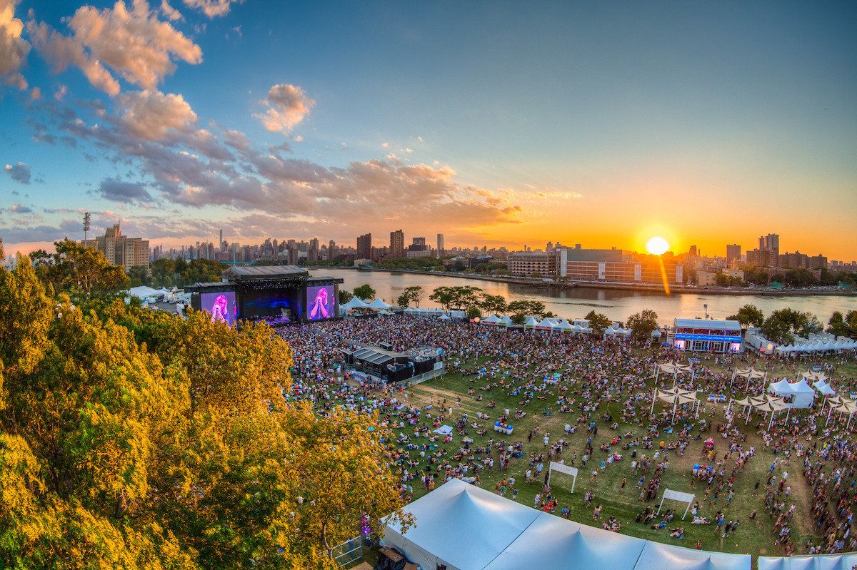 Arts + Culture concert Music music festival music venue Offbeat summer tree outdoor sky cityscape vacation evening River morning tourism dusk reflection Sunset City skyline park aerial photography panorama