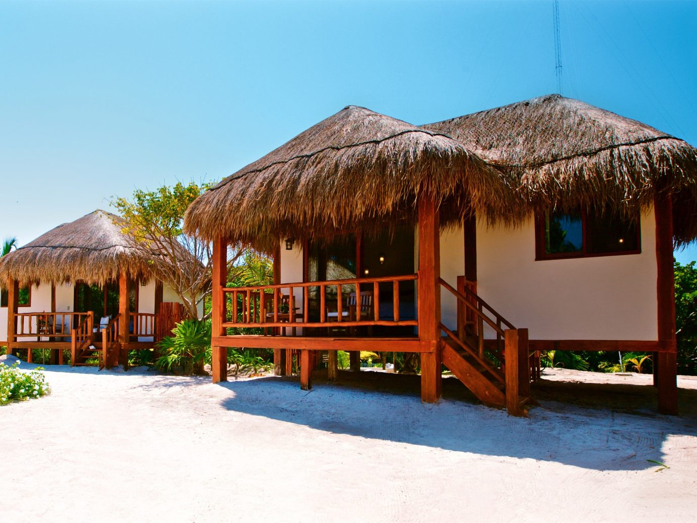 Boutique Hotels Hotels Mexico Tulum Resort property hut real estate cottage gazebo estate leisure Villa arecales home house hacienda palm tree vacation outdoor structure eco hotel roof