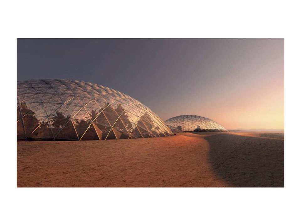 News Offbeat building dome ecosystem sky landscape ecoregion stock photography horizon Desert sand aeolian landform colored