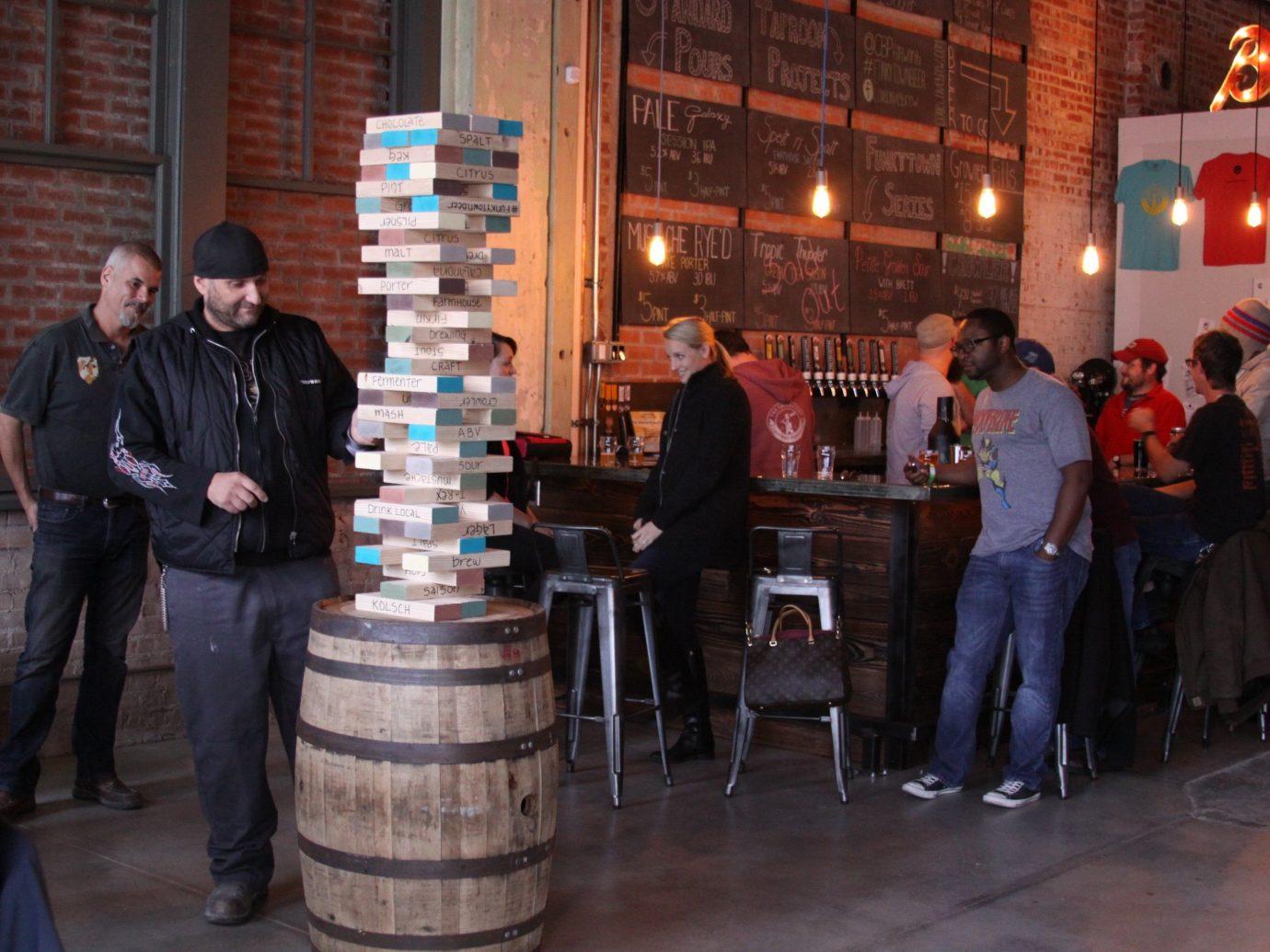 Food + Drink building person floor Bar