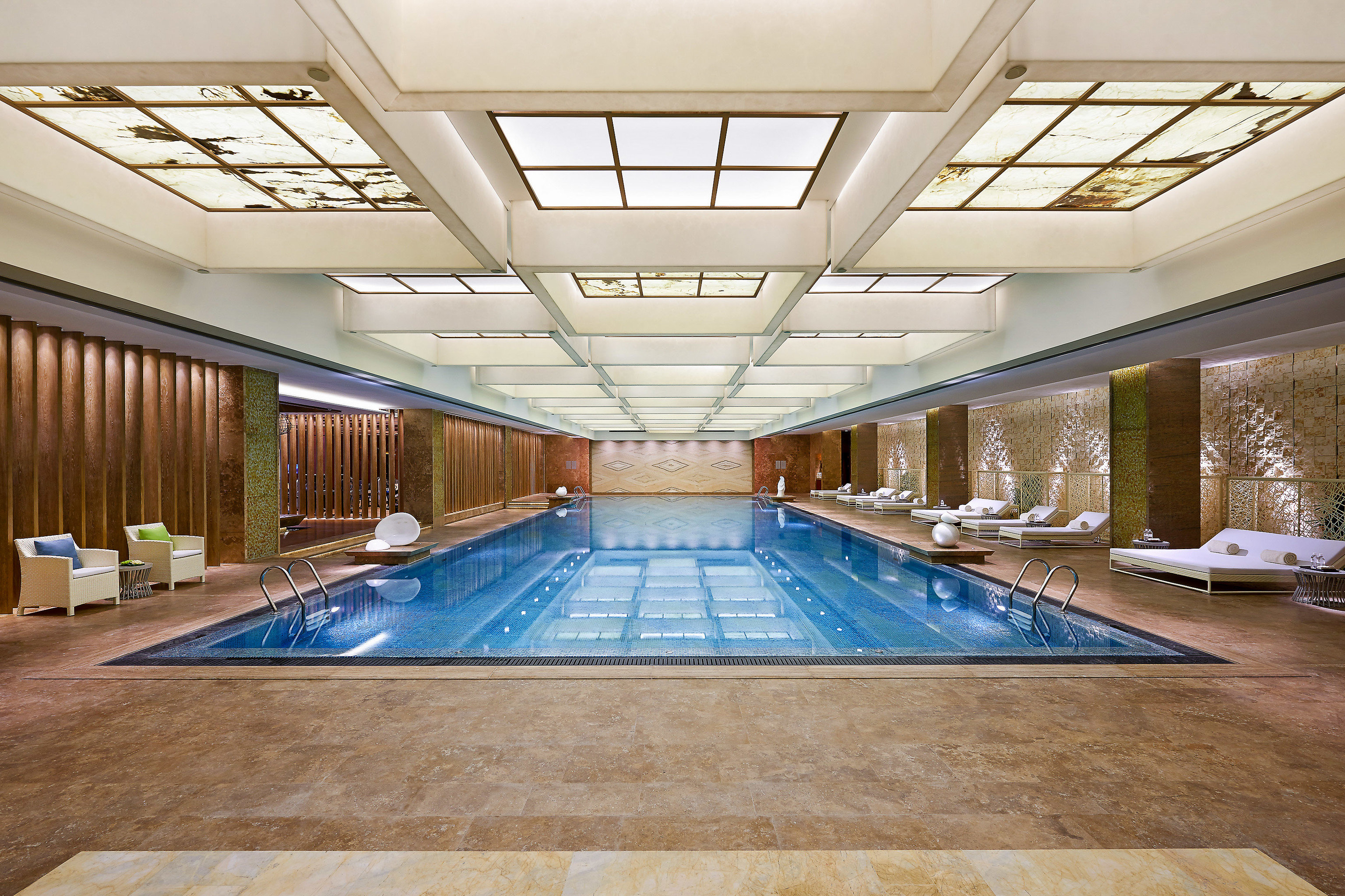 Boutique Hotels Luxury Travel indoor ceiling floor swimming pool leisure centre leisure daylighting Lobby real estate estate interior design apartment hotel amenity flooring condominium roof