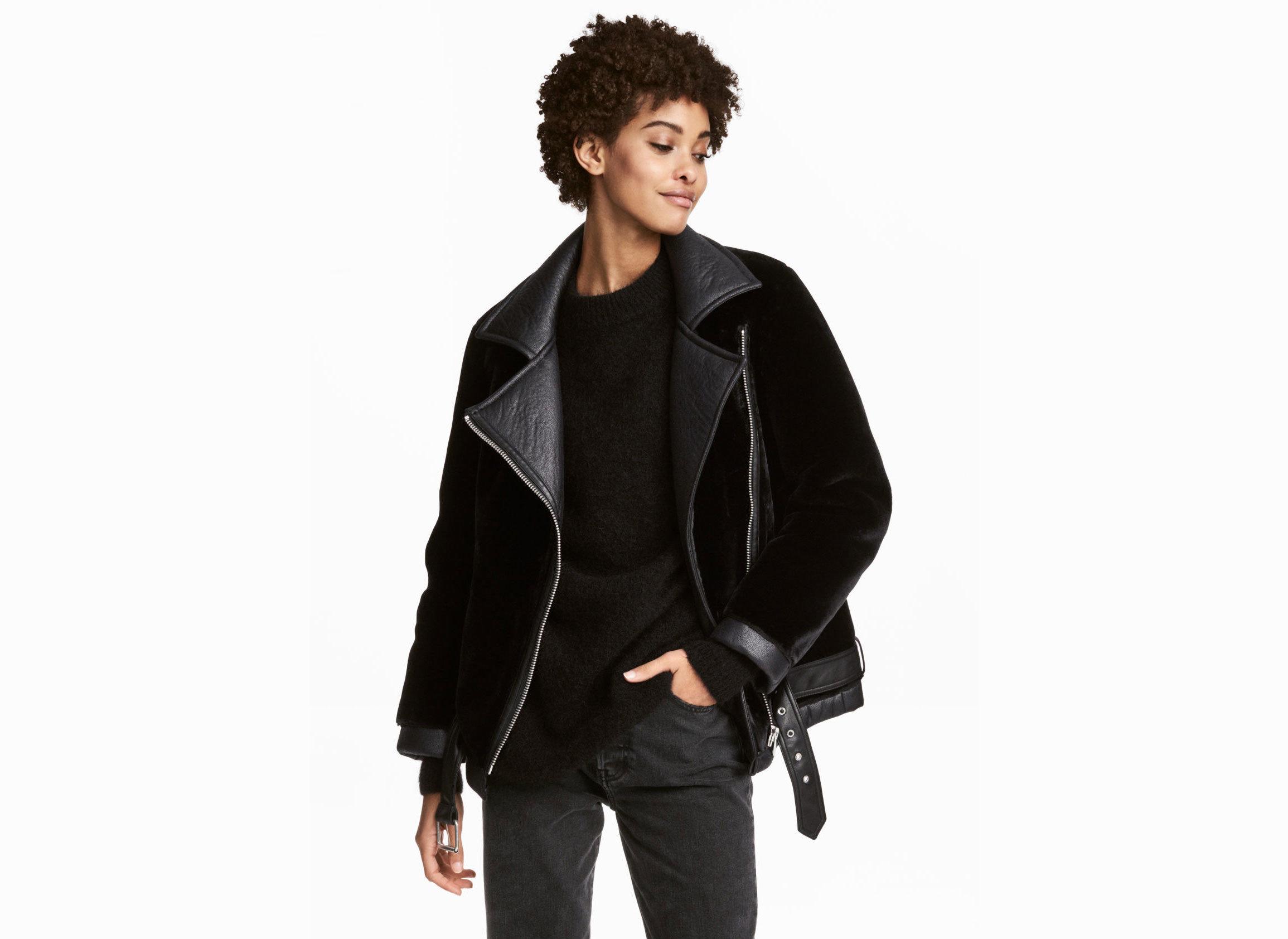 Style + Design Travel Shop person jacket standing fashion model shoulder fashion leather jacket posing leather product zipper coat fur overcoat
