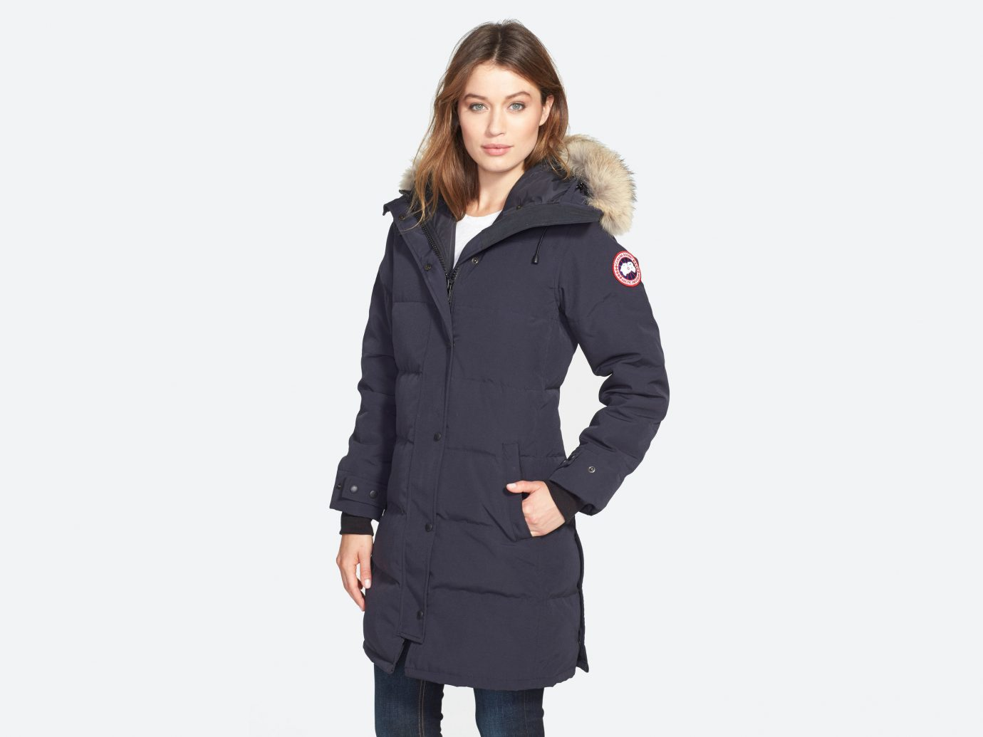 Style + Design clothing coat overcoat posing sleeve hood outerwear trench coat collar jacket suit wool