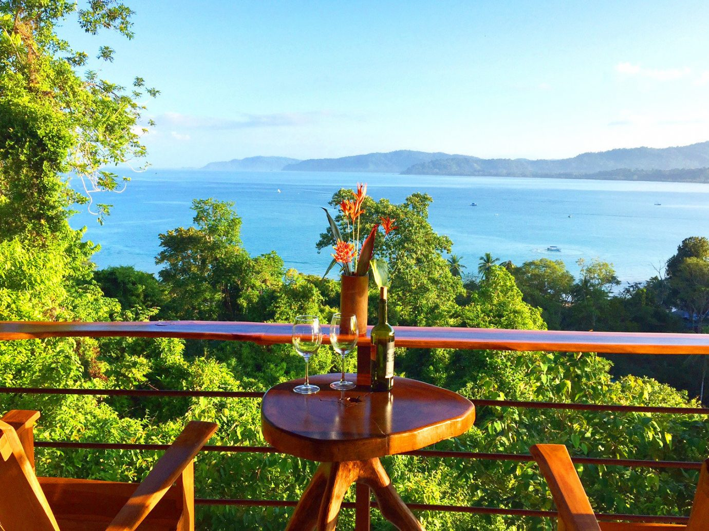 View from Drake Bay Getaway Resort on the Osa Peninsula in Costa Rica