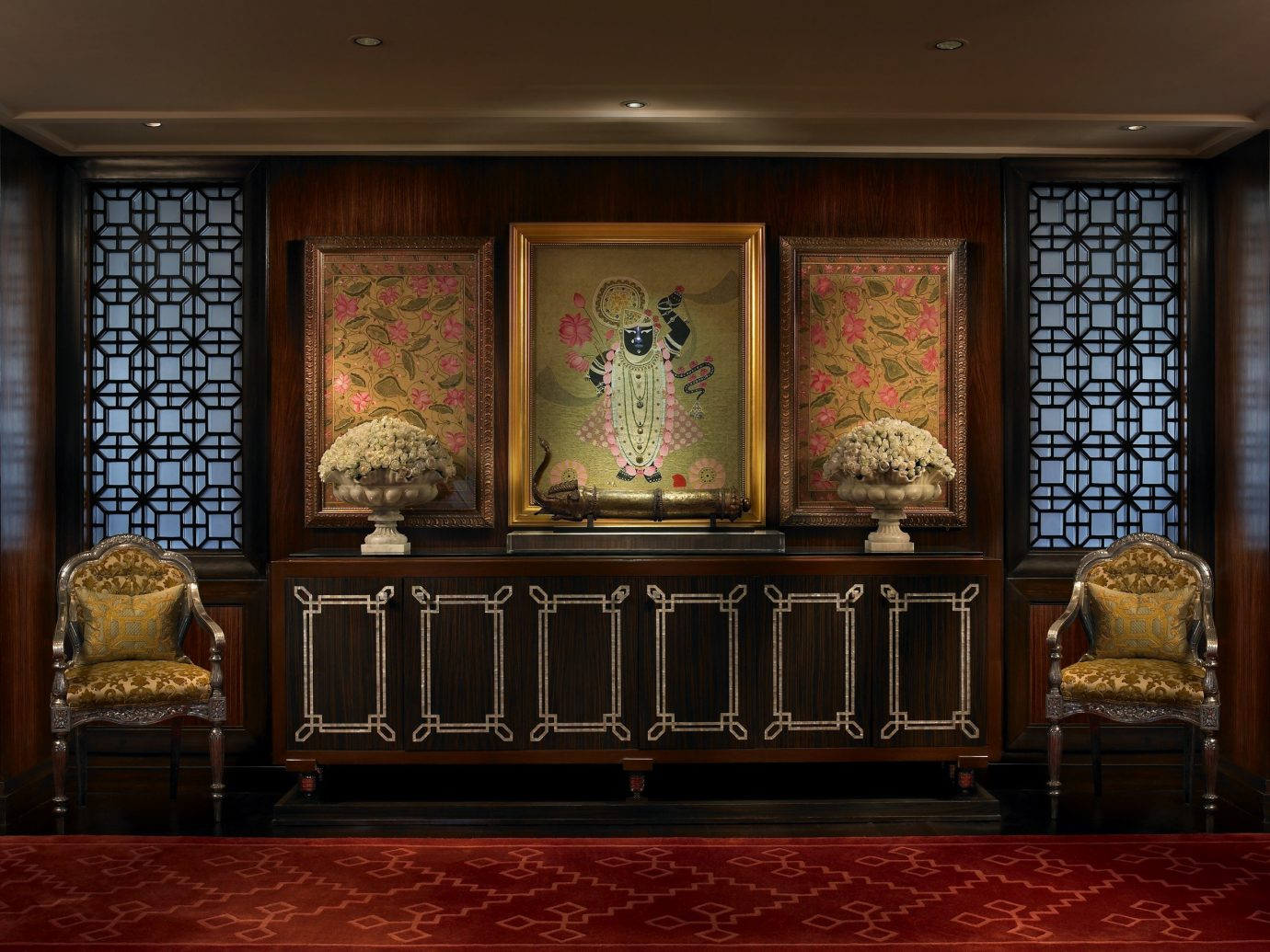 Hotels Luxury Travel indoor ceiling furniture wall interior design room Lobby living room window decorated several
